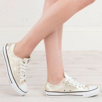 DCCK1IN converse womens metallic all star low