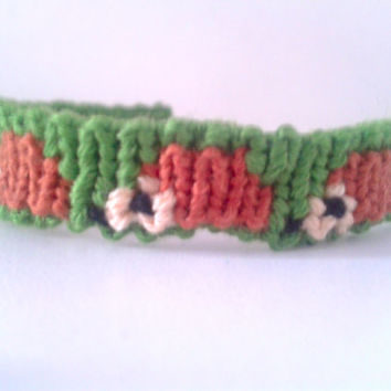 Hedgehog Friendship Bracelet - Adjustable Alpha Hand-woven Embroidery Floss Bracelet