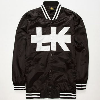 Last Kings Scripted Mens Letterman Jacket Black  In Sizes