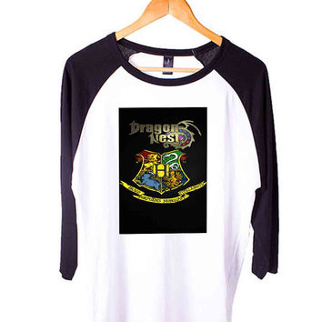 harry potter hogwarts logo Short Sleeve Raglan - White Red - White Blue - White Black XS, S, M, L, XL, AND 2XL*AD*