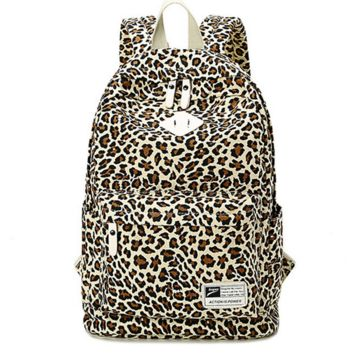 Leopard Printed Travel Bag Backpack for College Daypack School Bookbag