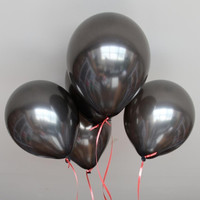 "100pcs 10"" Black Latex Party Balloons Pearl Helium Wedding Birthday Celebration Party Balloons (Size: M, Color: Black) = 1946090884"