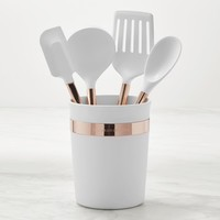 Williams Sonoma Silicone 5-Piece Tools with Copper Handles Set