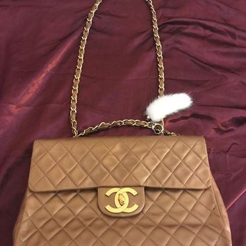 GOW Vintage Gold Chanel Jumbo Classic Flap Bag