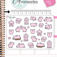 Kawaii Pig Stickers Cute Pig Stickers Pig Stickers Planner Stickers Erin Condren Functional Stickers Decorative Stickers NR664