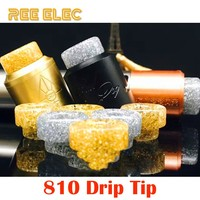 REE ELEC Resin 810 Atomizer Drip Tips For Electronic Cigarette Rda Rba Tank Wide Bore Drip Tip For Vape Pen