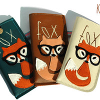 Samsung Galaxy S6 Edge Plus Leather Sleeve Case FOX / Galaxy S6 Egde Sleeve, Sleeve for Galaxy Note 5,4,3,S6, A7, A5, A3 Handmade Unique