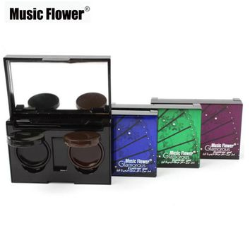 Music Flower New Cosmetic Waterproof Eye Liner make up black liquid Eyeliner Shadow Gel Cream Makeup With Mirror