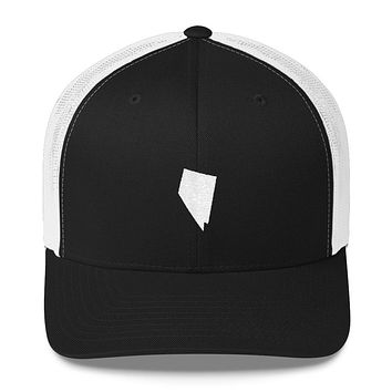 Nevada Embroidered State Shape Trucker Cap