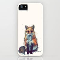 Fox iPhone Case by Amy Hamilton | Society6