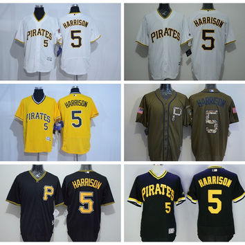 Retro 5 Josh Harrison Jersey Sale Baseball Flexbase Pittsburgh Pirates Jerseys Throwback Yellow Pullover White Camo Black Grey Hot Men