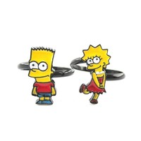 The Simpsons Themed Bart and Lisa Adjustable Ring | DOTOLY