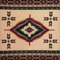 Tan Southwest Design Polar Fleece Throw Blanket 50x60