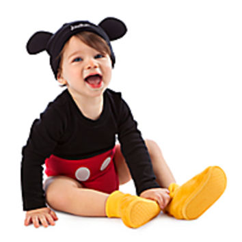 Mickey Mouse Disney Cuddly Costume Bodysuit Set for Baby - Personalizable