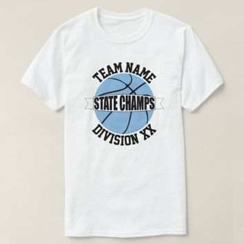 Carolina Blue Basketball State Champion Team Shirt