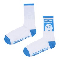 Itchy Scratchy Patchy Nice Boy Flavour Sock (White)