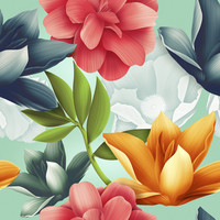 Hawaiian Blooms Removable Wallpaper