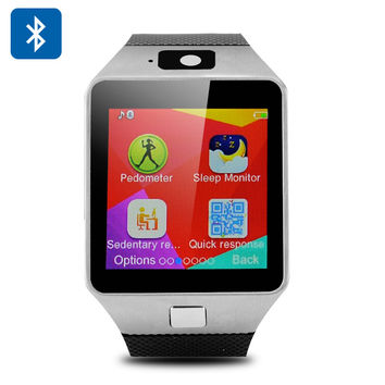 DZ09 Bluetooth Watch Phone - Micro SIM Slot, Micro SD Slot, Pedometer, Sleep Monitor, Sedentary Reminder, Bluetooth Dialler