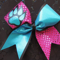 3 inch cheer bow by BragAboutItCheerBows on Etsy
