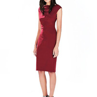 Red Dress with Split to Reverse
