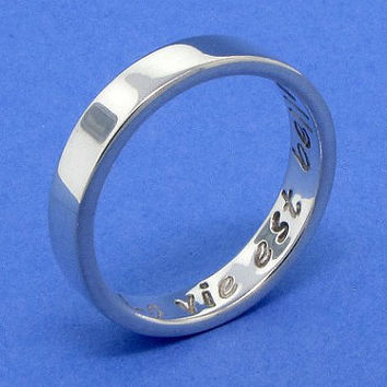 Secret message ring sterling silver ring by TDNCreations on Etsy