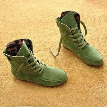 Autumn and Winter Boots Snow Boots for Women and Men Martin Boots Suede Leather Boots Couples Shoes Cotton