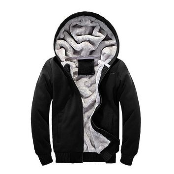 2016 Winter new Cotton Men Fashion Mens brand clothing Hoodies Men's New Fashion Coat With Hood Thick Warm Coat Hoodie