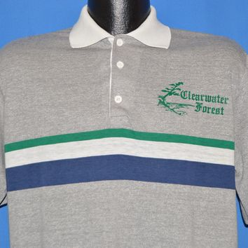 e3d32e908 80s Clearwater Forest Polo shirt Large