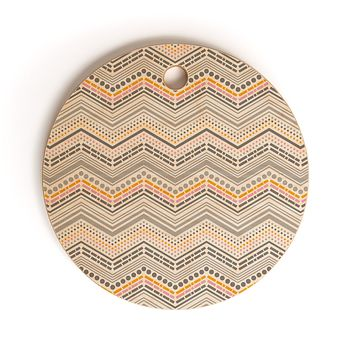 Heather Dutton Dash And Dot Neapolitan Cutting Board Round