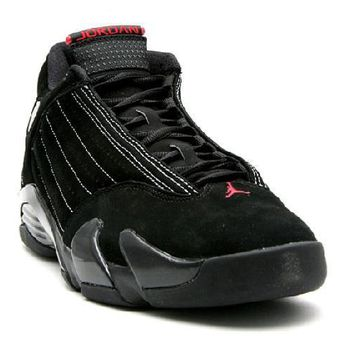 Ready Stock Nike Air Jordan 14 Retro Countdown Pack Black Varsity Red Basketball Sport Shoes