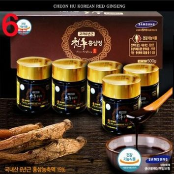 CHEONHU Korean 6 Years Root Red Ginseng Extract Health Food Gifts Shop