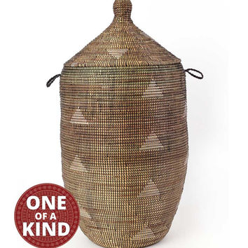 Extra Large Handwoven African Basket