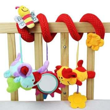 Animal Lovely Bee Plush Toy Super Soft Baby Rattles Toy Multifunctional Bed Crib Hangings Baby Toys