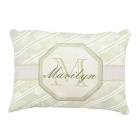 Add Name | Monogram | Stripe Accent Pillow