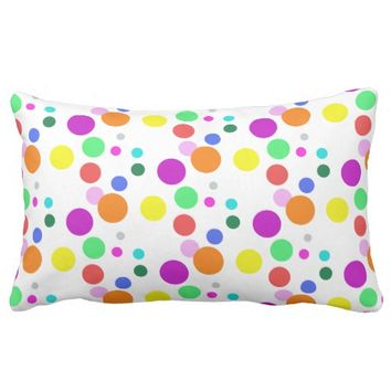 "Cotton colorful, Lumbar Pillow 13"" x 21"""