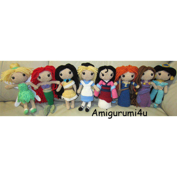 Amigurumi Disney Princess : Disney Princess Handmade Amigurumi from Amigurumi4u on Etsy