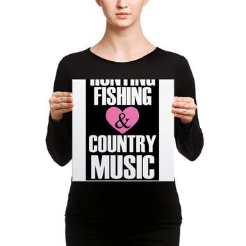 Hunting Fishing Country Music Fans Canvas