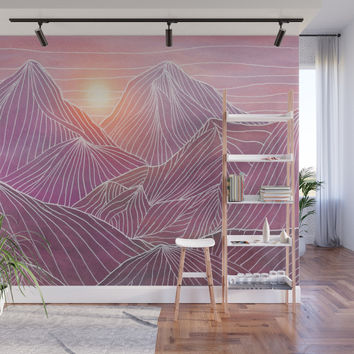 Lines in the mountains 02 Wall Mural by vivianagonzlez