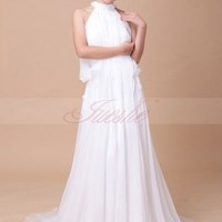 Halter Wedding Dresses -JuesheGowns.com