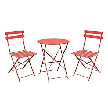 Garden Bistro Set Table Chairs Outdoor Patio Furnitures Set For Terrace Balcony