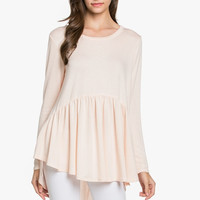French Terry Babydoll Tunic Blush