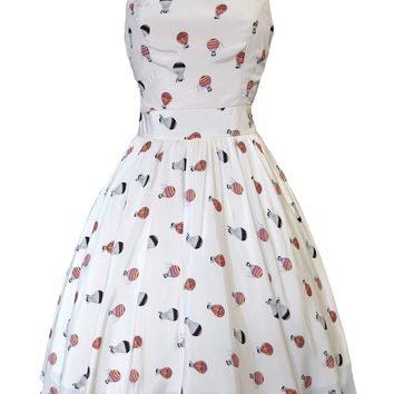 Hot Air Balloon Print Tea Dress