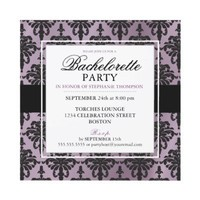 Black Lace Bachelorette Party Invitations from Zazzle.com