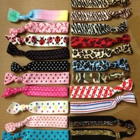 Printed Elastic Hair Ties (and Brac.. on Luulla