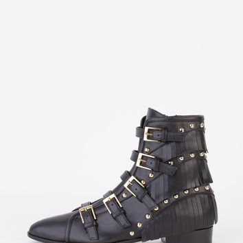 Giuseppe Zanotti - Buckled Leather Ankle Boots