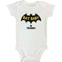 BAT BABY IN TRAINING - Funny Kids Rompers