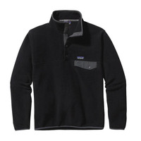 Patagonia Men's Lightweight Synchilla Snap-T Fleece Pullover Black Forge Grey