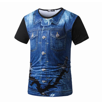Men's Fashion Print Short Sleeve T-shirts [9724848899]