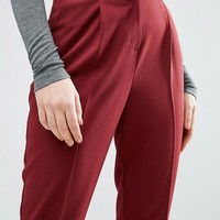 ASOS Tailored High Waisted Pants with Turn Up Detail at asos.com