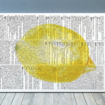 Kitchen poster Lemon print Food print Fruit decor RTA1822